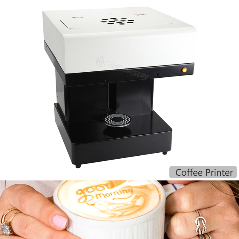 2018 New Coffee Printer Lattee Printer Coffee Machine Cake Food Edible ink Printer Can Print Cookies Flowers Coffee and Cake edible ink printer art beverages coffee printer coffee food and beverage printing machine auto coffee tea cookies printer