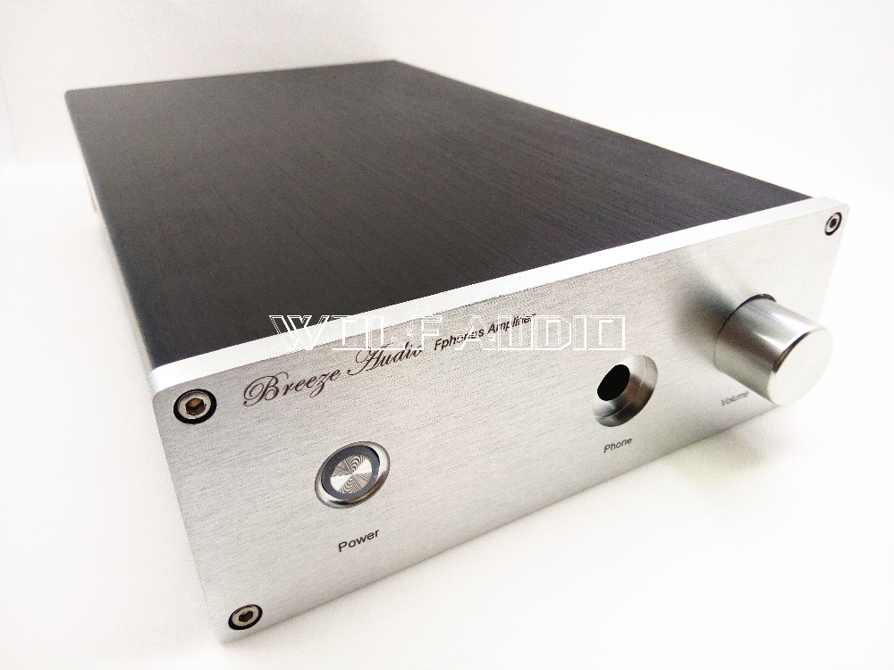 1907A Full Aluminum Headphone Amplifier Chassis Preamplifier Enclosure Mini AMP Case Power Amplifier Box