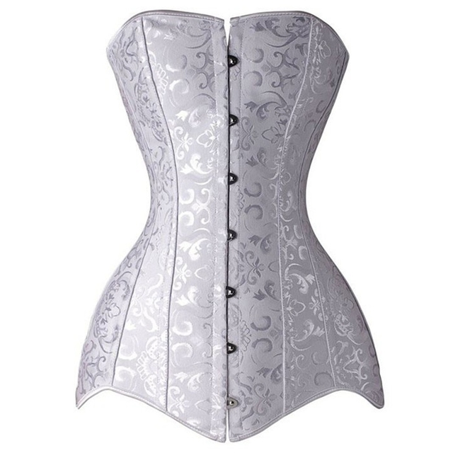 eaf18f6727 26 Steel bone waist Trainer corsets slimming sheath belly white body shaper  belt modeling strap Slimming Abdomen bodysuit girdle-in Bustiers & Corsets  ...