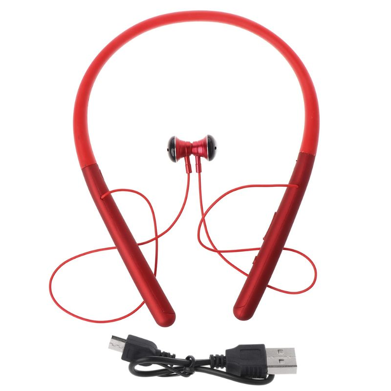 M20 Neck mounted Wireless Headphones Sweatproof Bluetooth 5 0 Earphone Sport Stereo Bass Music Headsets For iPhone Android in Bluetooth Earphones Headphones from Consumer Electronics