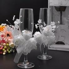 Свадебный бокал для шампанского, набор, Декор, hanap, красное вино, кружка стаканы, Подарочная коробка, Кубок, имитация цветов, жемчужное украшение, чашки для женитьбы