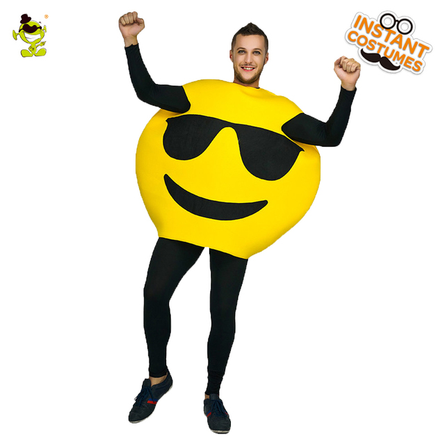 US $22 48 10% OFF|Funny Emoji Sunglasses Costume Role Play Emoji Party  Imitation Cool Emoticon for Adult Unisex Men-in Holidays Costumes from  Novelty