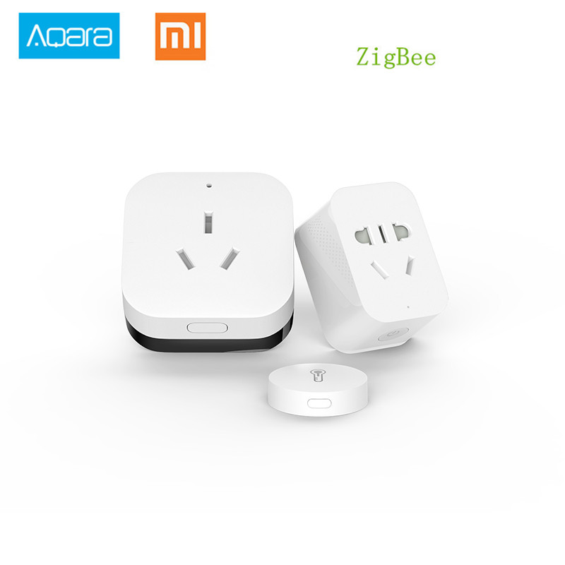 Xiaomi Gateway Aqara Zigbee WiFi-Steuerung Smart Home Automation Kits Smart Socket Temperatur-Luftfeuchtigkeit-Sensor für Android iOS APP