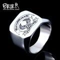 Homens 316l aço inoxidável anel beier nova loja moto clube turkiye águia anel bijuterias br8-426