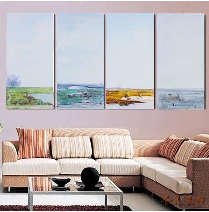 4 панелі Мондерн Абстрактні морські - Домашній декор