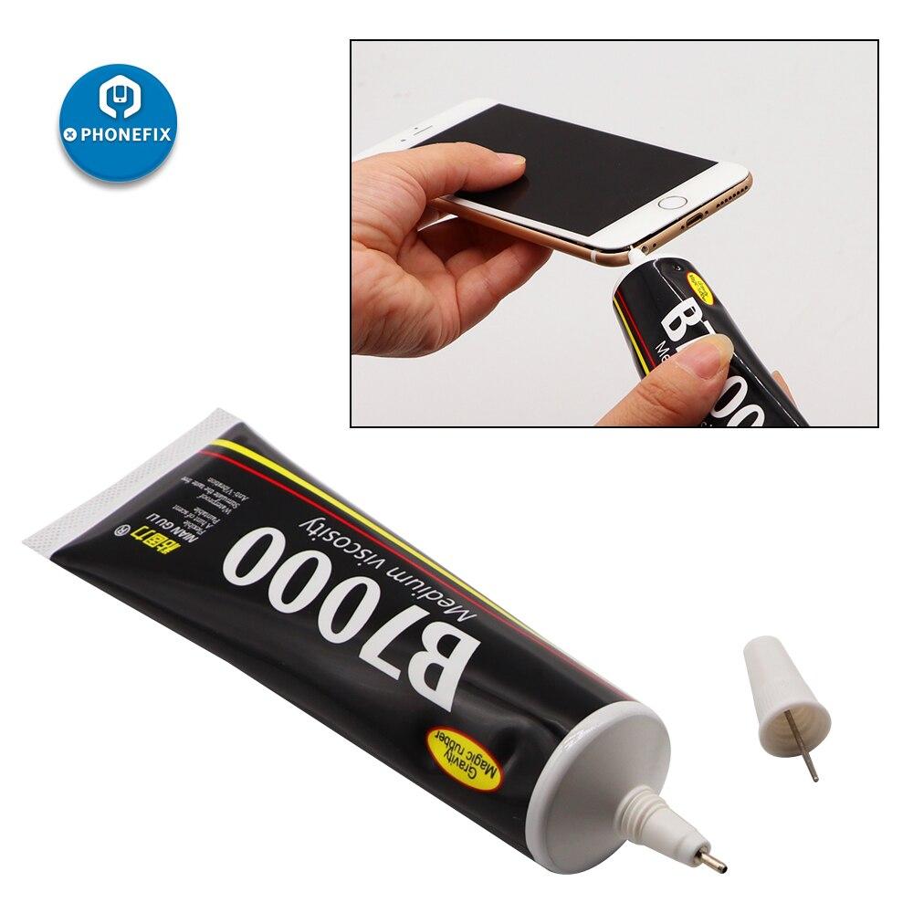 Çok amaçlı B7000 şeffaf güçlü süper yapıştırıcı için uygun DIY LCD ekran telefon kılıfı cam takı saat tamir