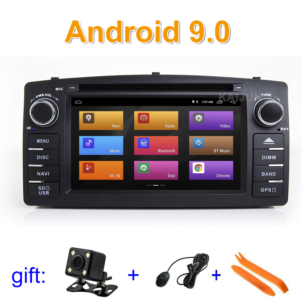 IPS screen Android 9 Car DVD Multimedia Player for Toyota Corolla E120 BYD F3 with wifi BT GPS Radio stereo