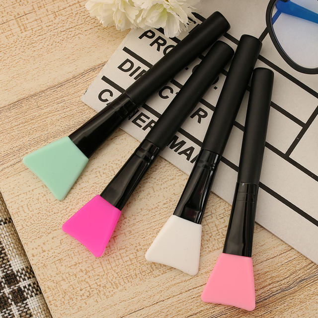 1PC 2017 NEW HOT Fashion Professional Silicone Mud Mask Mixing Brush Skin Face Care Cosmetic Beauty Makeup Brush Makeup Brushes