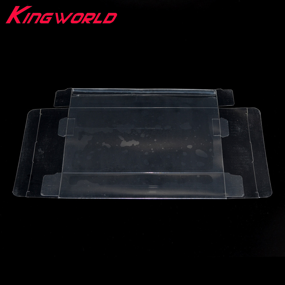 200pcs Clear transparent Game box Protector Case CIB games plastic PET Protector for Nintendo for SNES For N64 game boxes