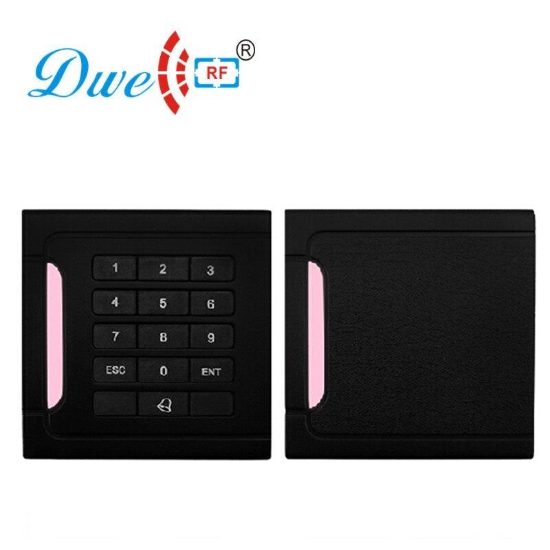 DWE CC RF Proximity RFID Card Reader Keypad Wiegand 26 or Wiegand 34 Scanner EM ID MF Reader D302 dwe cc rf wiegand 26 output 13 56mhz iso14443a proximity rfid card reader with waterproof ip65