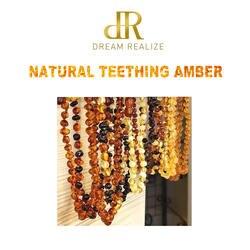 DR (Прямая доставка) Классический янтарный браслет прорезывания зубов/Цепочки и ожерелья для взрослых Аутентичные 8 размеров Натуральный