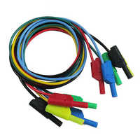 New 4mm Test Cable Lead Line Banana Plug Cable Lead Teaching Laboratory Silicone Connecting Wires