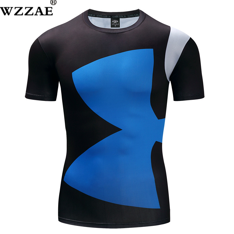 9e7cbaa4d 2018 New Style Printing Fashion 3D Milk Fiber T-shirt Absorb sweat  Quick-Drying