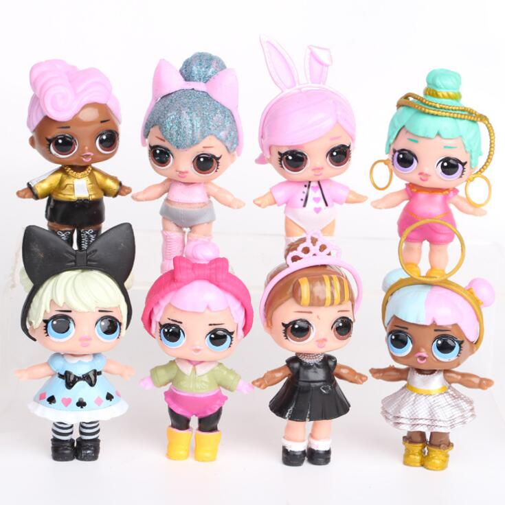 8-9cm LoL Doll Unpacking Dolls Baby Tear Open Color Change Egg LoL Doll Action Figure Toys Kids Gift High-quality