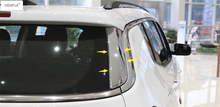 Lapetus Accessories For Jeep Compass 2017 2018 2019 ABS Chrome Rear Window Spoiler Side Triangle Molding Cover Kit Trim 2 Pcs lapetus 2 color for choice accessories for renault kadjar 2016 2017 2018 abs front pillar a triangle molding cover kit trim