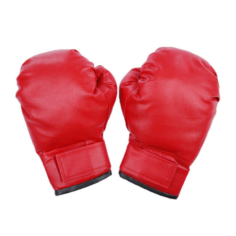 1 PCS Adult Boxing Gloves Solid Color PU Thickened Adjustable Hand Protector Fitness Fighting Gloves