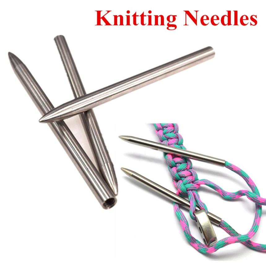 1-Pack Lacing Stainless Steel 3in 550 Paracord Fid Stitching Needles
