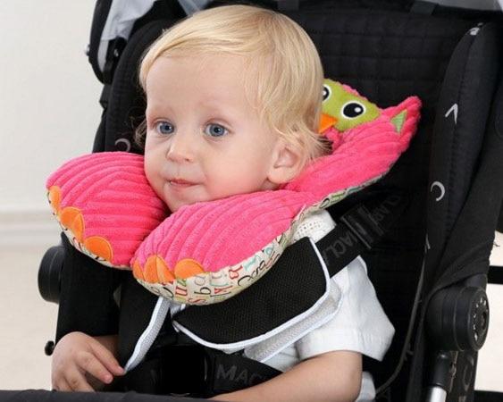 Travel Friends Total Support Headrest Car Seat Adjustable Neck Pillow Kids Cushion U