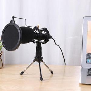 Image 2 - ALLOYSEED micrófono USB condensador de mano con cable, con soporte plegable, parabrisas para chat de PC, 170x32x32mm