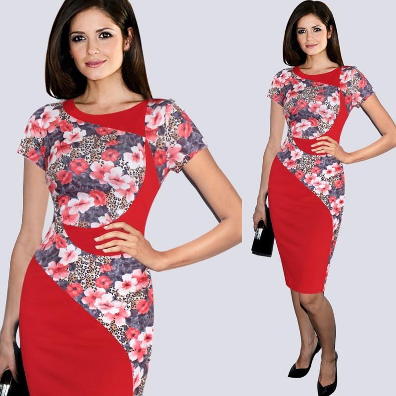 100% skutečná fotografie Dámské elegantní Colorblock Patchwork Tartan Check Plaid Wear to Work Business OL Party Bodycon Stretch Dress