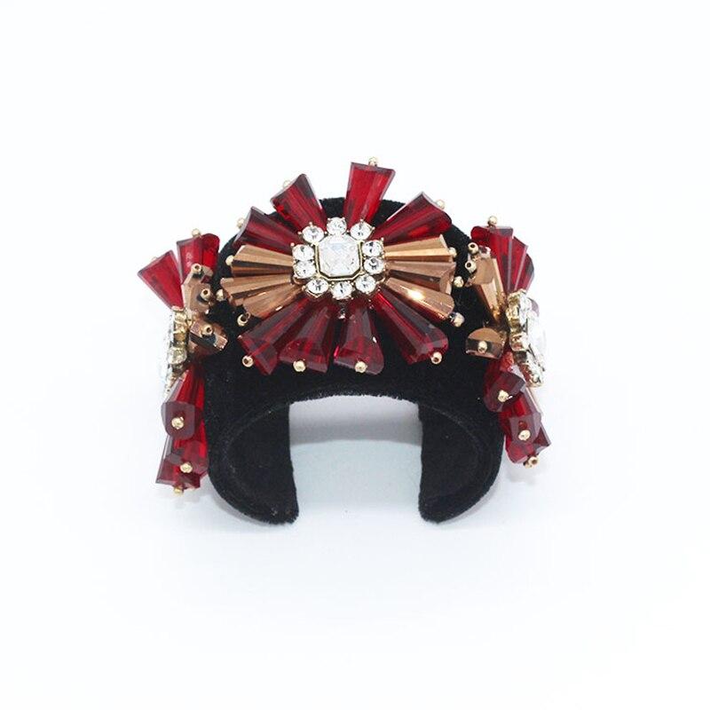 Luxury Style Wide Bangle & Bracelets For Women Cuff Bracelets For Women Fashion Open crystal handmade Bracelet Jewelry