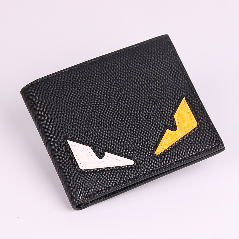 KISUMATER Men's Wallet Popular Little Monster Wallets Short Horizontal Eyes Wallets Unisex PU Leather Women Purse Free Shipping cartoon short wallet pocket monster pokemon satoshi pikachu short wallets two fold purse children wallet gift