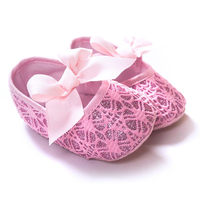 Factory Price! Baby Girls Princess Bowknot Shoes Toddler Soft Soled Anti-slip  Shoes 0-12M