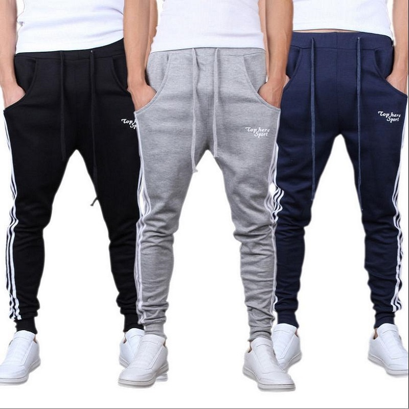 New Outdoors Cargo Loose Trousers Men Sweat Harem Sport