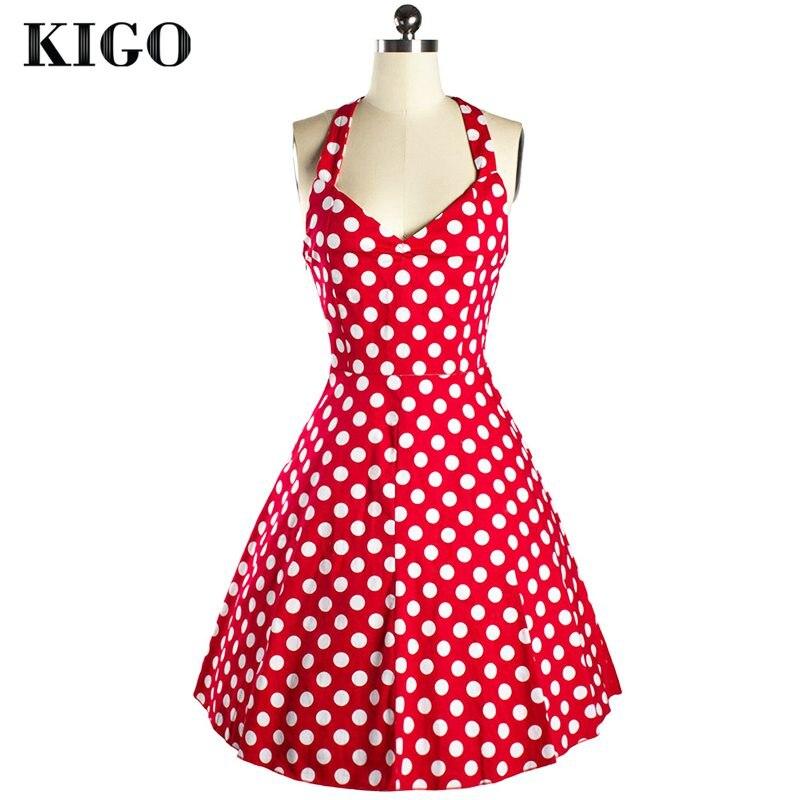⑤Kigo mujeres vestido de impresión floral partido vintage Vestidos ...