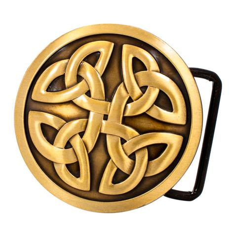 Mens Celtic Cross Knot Mystic Circle Goth Intwine Belt Buckle