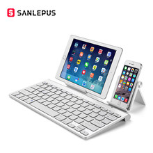 Sanlepus Ultra Slim Bluetooth Keyboard Nirkabel Keyboard Komputer Mini untuk Ponsel Tablet Laptop iPad Iphone Samsung Ios Android(China)