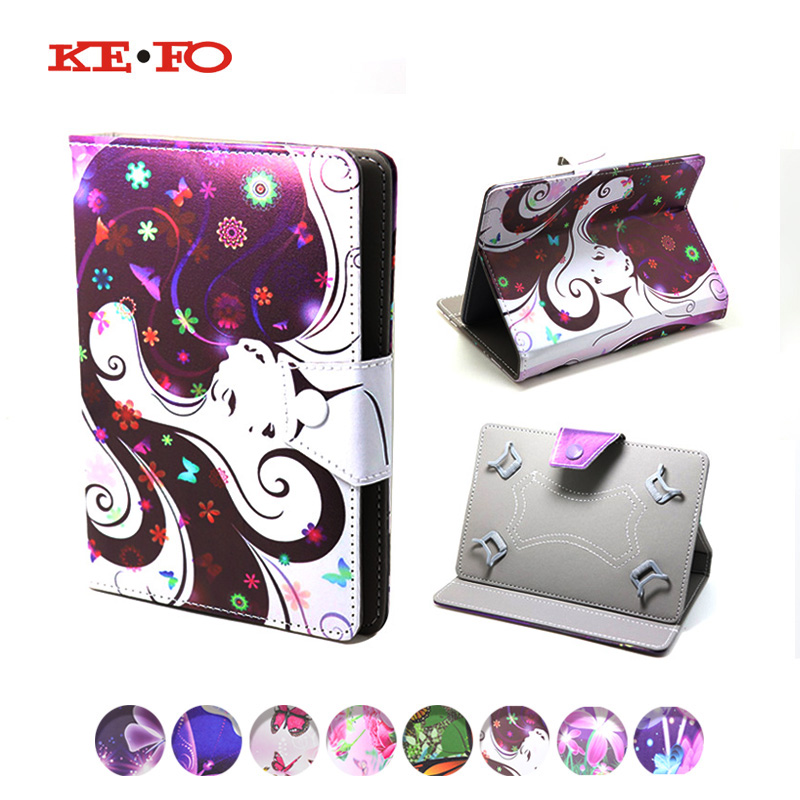 KeFo For Irbis TX47/TZ43/TG72/TG75/TX55/TX49/TX52/TH73 Universal Case For Tablet 7 inch Covers PU Leather Cases+3gifts tx