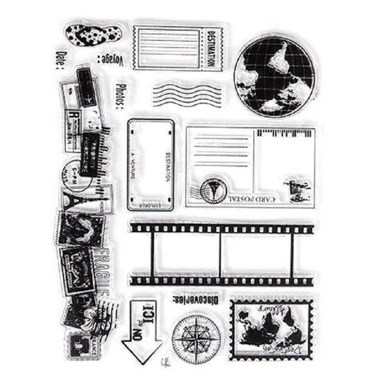 Travel The World Clear Stamp Eco-friendly Transparent Stamp For DIY Scrapbooking/Card Making/ Decoration Supplies the gambler