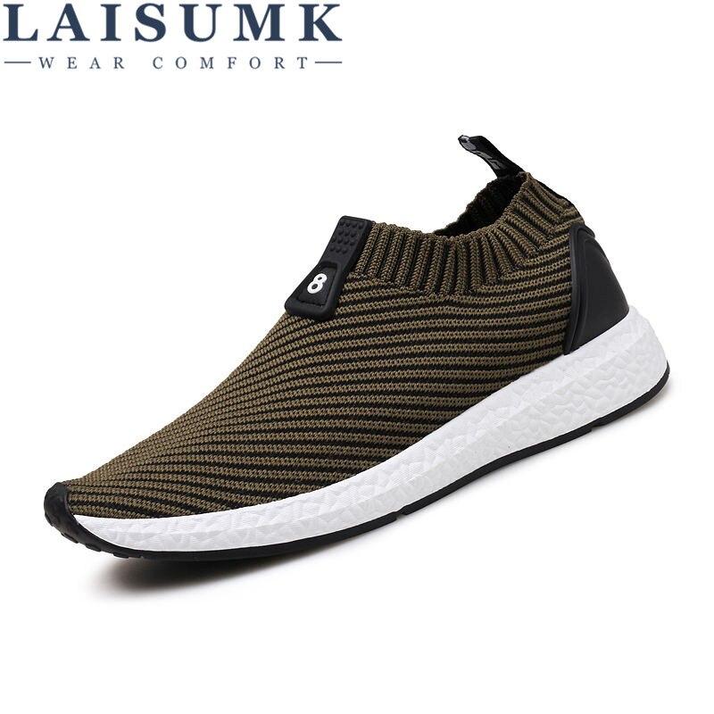 2018 LAISUMK Traspirante Scarpe Outdoor Per Uomo Nuovo Economici Slip-On Uomini Sneakers Zapatillas