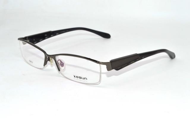 Homens de negócios da elite da liga titanium sobrancelha quadros ultraleve custom made óculos de miopia prescrição photochromic-1 to-6