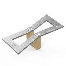 Топ Номинальный маркер ласточкин хвост, ручной резки деревянных соединений манометр ласточкин хвост направляющий инструмент со шкалой, ласточкин хвост шаблон Размер 1: 5-1: 6 и 1: 7