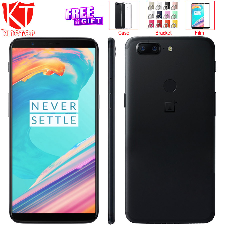 "Original OnePlus 5T 5 T 6 RAM 64 ROM Mobile Phone Snapdragon 835 Octa Core 6.01"" 18:9 Screen 20MP+16MP Rear Camera 4G Cellphone"