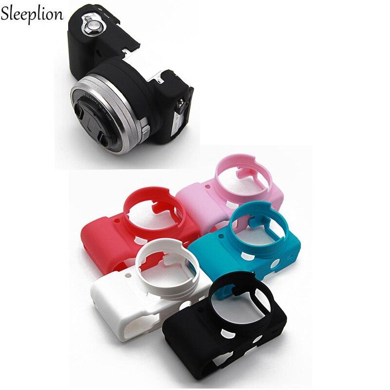 Sleeplion Silicone Rubber Camera Bag Protective Body Cover Case For Sony A5100/A5000 A6000 стоимость