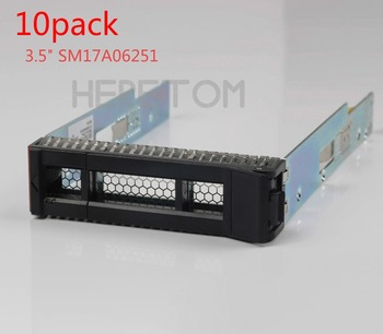 "Heretom 10pcs 3.5"" SATA SAS Hard Drive Tray Caddy Bracket For IBM Thinksystem ST550 SR550 SR650 SR850 SR530 SM17A06251"