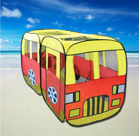 New Design Bus Model Play Game House Children Tent Novelty Large Play Tents For Kids Present