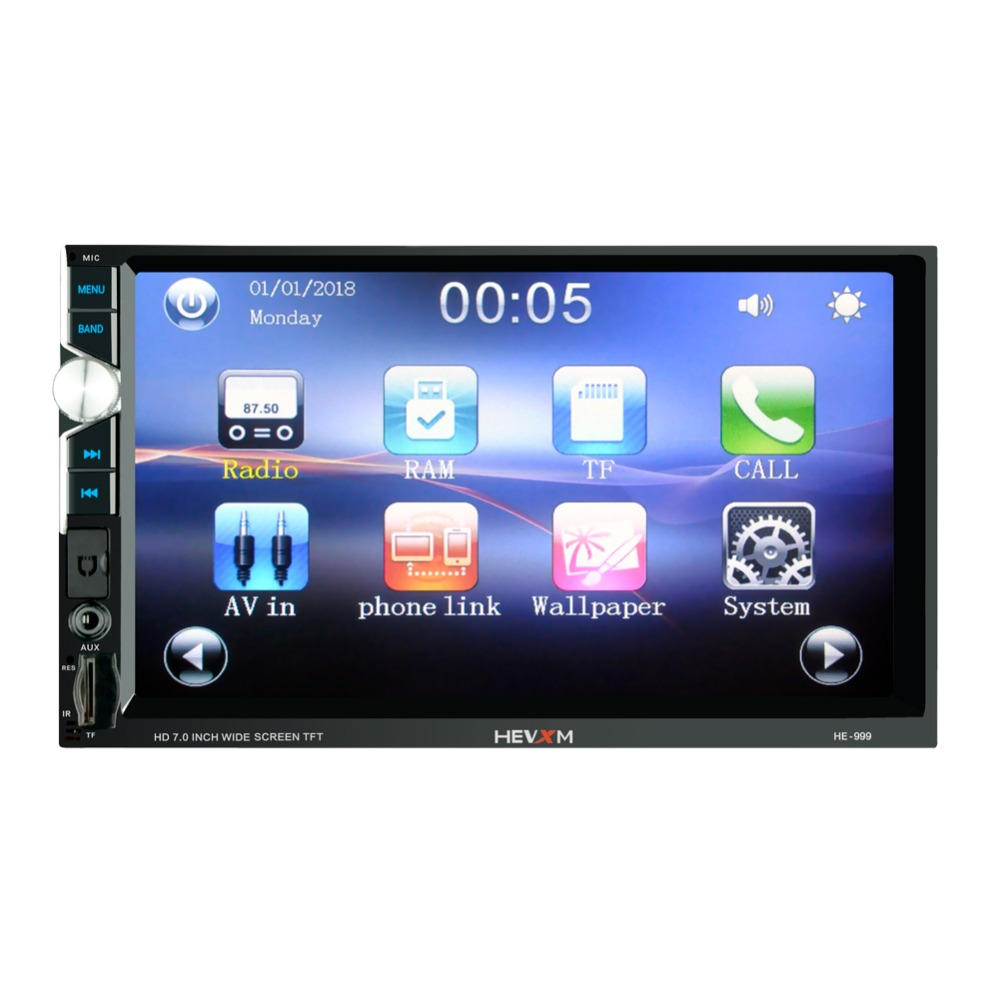 Image 2 - 999 2 Din 12V Car multi function radio, touch screen,  7inch Car MP5 player for Apple Android Phone Interconnect-in Car Radios from Automobiles & Motorcycles