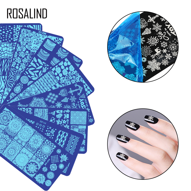 ROSALIND Nail Stamping Plates Nail Art For Manicure Flower For Nail Design New Polish Stamping Print Template Plates Stamps