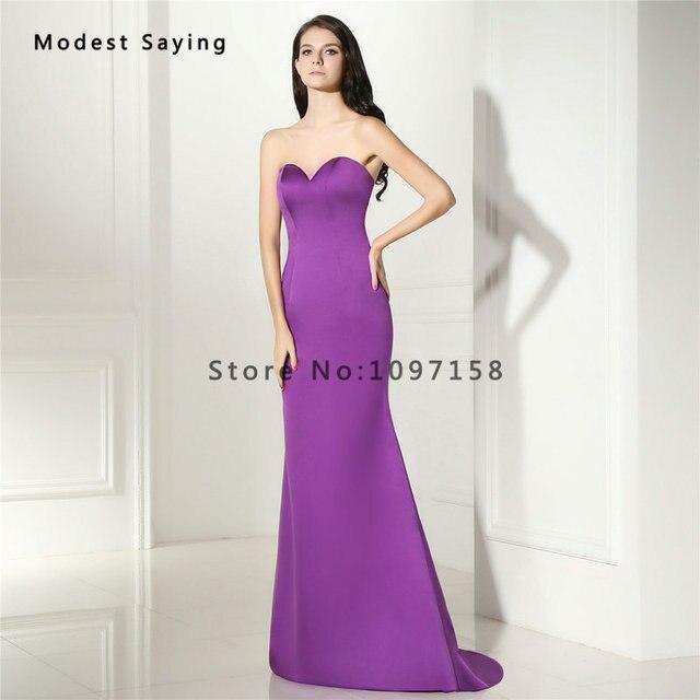 Sexy Purple Mermaid Sweetheart Evening Dresses 2017 Summer Girls Long Party Prom Gowns vestido de festa longo para casamento