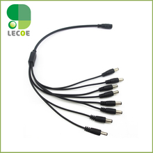 DC 1 to 8 , DC Female to 8 Male Power Splitter adapter Cables for 2.1mm Jack CCTV camera 5.5*2.1mm