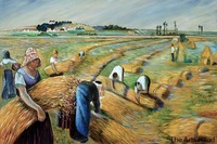 Famous Art Painting The Harvest Camille Pissarro Oil Painting for Living Room Home Decoration Hand painted