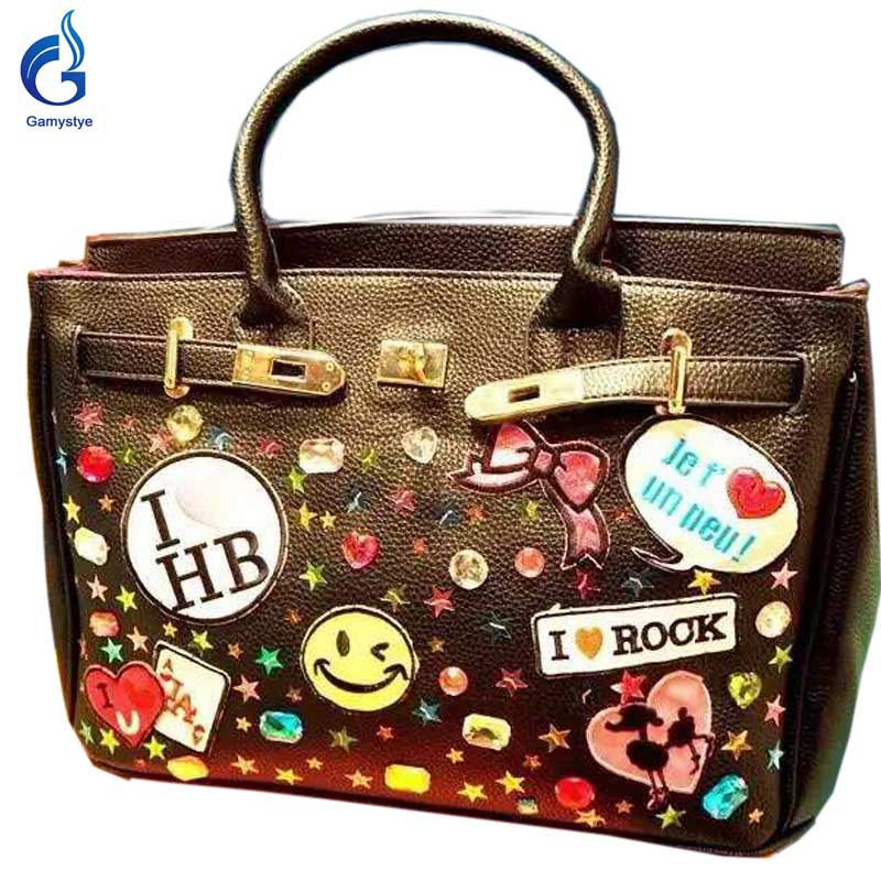 2016 New arrival Graffiti Custom Women Messenger Bags Hand Painted bags painting totes Female bags waterproof rock art handbags rock skull graffiti custom bags handbags women luxury bags hand painted painting graffiti totes female blose women leather bags