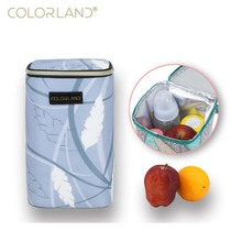 Colorland portable ice bag insulation aluminum foil package breast milk fruit preservation back