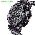 Sanda S choque hombre relojes deportivos 30 M nado LED Digital militar reloj de moda relojes de pulsera al aire reloj Digital resistente al agua 80 g