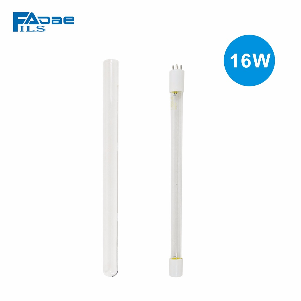Compatible 16W UV Germicidal Bulb+QUARTZ tube For 16W Ultraviolet Sterlizer 50pcs new uv germicidal sanitizer replacement bulb for philips sonicare hx6150 hx6160 hx7990 hx6972 hx6011 hx6711 hx6932 hx6921