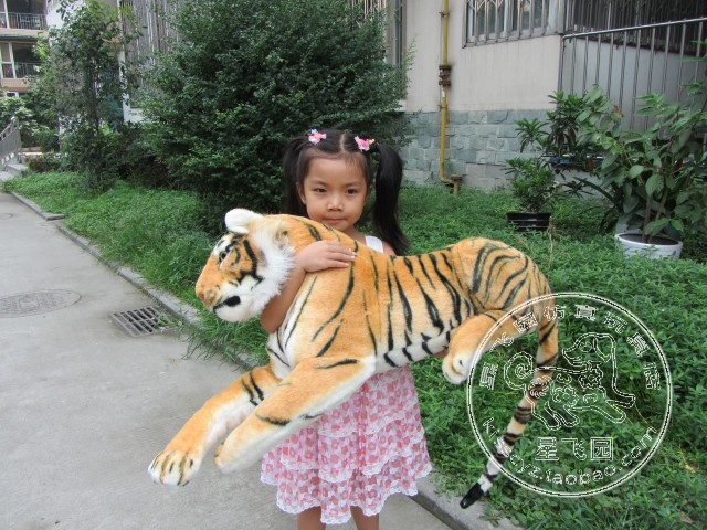 stuffed animal 115 cm plush simulation lying tiger toy doll great gift w114 stuffed animal 110cm plush tiger toy about 43 inch simulation tiger doll great gift free shipping w018